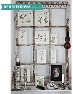 Home Shabby Home: Old Windows Ideas