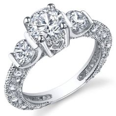 Sterling Silver Wedding Engagement Ring with Cubic Zirconia CZ Sizes 5 to 9: Jewelry: Amazon.com