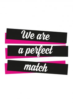 Perfect match | Typografie | Echte Postkarten online versenden | MyPostcard.com