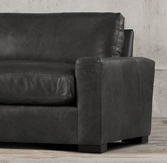 Maxwell Leather Sofa 8ft 3225 petite 96L x 36D x 30H and