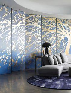 The Opus Residences Hong Kong, Copper stool and modern grey sofa| www.bocadolobo.com/ #luxuryfurniture #designfurniture