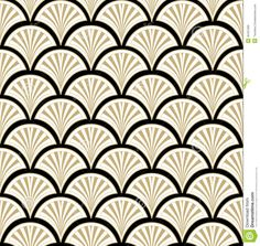 Floral Seamless Background. Abstract Black, Beige And White Floral ...