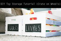 Crate On Wheels {diy Toy Storage Tutorial}
