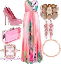 A cute pretty pink outfit for a summer date ;)