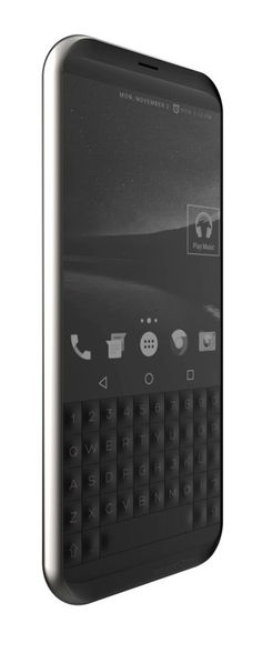 leManoosh Black Chrome Electronics Ergonomics Keyboard Phone Rubber & Silicon
