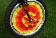 Crepe Paper Bicycle Decor