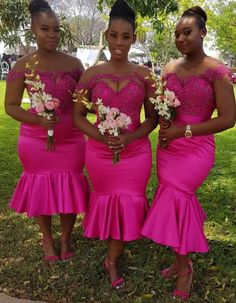 African Nigeria Bridesmaid Dress With a Style and Fashion Twist, Can you see how the blush is gettin