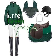 Hunter Green Equestrian by princesskk12 on Polyvore
