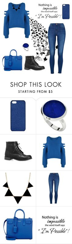 """#blue"" by abecic ❤ liked on Polyvore featuring Maison Takuya, StyleRocks, Avenue, WearAll and Yves Saint Laurent"