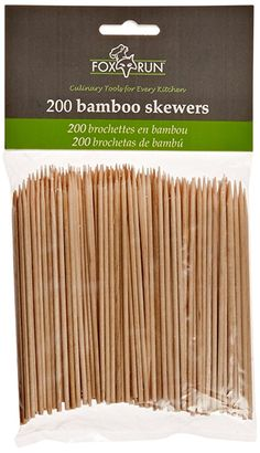 Fox Run Brands Bamboo Skewers 4 inch set of 200 Bbq Skewers, Bamboo Skewers, Kabobs, Party Gadgets, Cooking Stores, Grill Apron, Skewer Recipes, Grill Accessories, Summer Barbecue