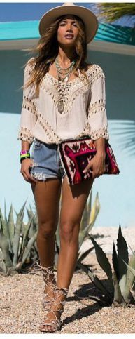 Stylish bohemian boho chic outfits style ideas 91