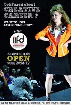 Confused about creative career? Want to join Fashion Industry   Join Indian Institute of Fashion Design (IIFD) Get more info @ www.iifd.in  #iifd #chandigarh #best #fashion #designing #institute #chandigarh #mohali #punjab #design #admission