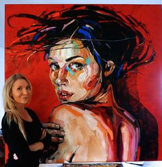 DESIRE II 150x 150cm,  oil on canvas 2017 Galerie BARTOUX ÉLYSÉES, Champs Elysées, Paris