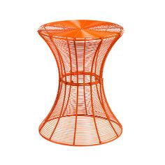 traci--dylan's bedside table? $40 Orange Wire Accent Table | dotandbo.com