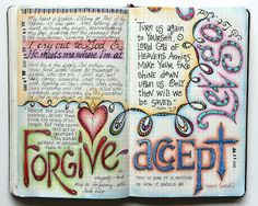 visual blessings: Processing Hurt in my Moleskine Journal