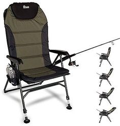 Chairs and Seats 19985: Earth Products Ultimate Outdoor Adjustable Fishing Chair With Adjustable Legs -> BUY IT NOW ONLY: $108.67 on eBay!