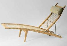 Chaise longue PP 524 Deck Chair, Hans Wegner (La Boutique Danoise)