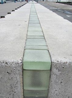 White Concrete, Street Furniture, Glass Blocks, Public Art, Sidewalk, Ribbon, Digital, Drawings, Image