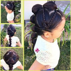 Mohawk hair style with hearts for little girls