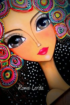 Arte Pop, Mandala Art, Love Painting, Painting & Drawing, Abstract Portrait, Whimsical Art, Acrylic Art, Face Art, Zentangle