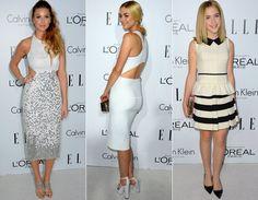 Vestidos brancos estão em alta entre famosas como Whitney Port, Jaime King e Kiernan Shipka!  Famosas arrasam no evento da revista ELLE em Los Angeles! - Radar Fashion - CAPRICHO