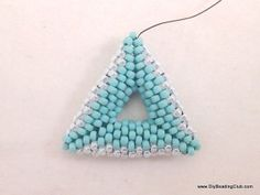 DIY Beading 3D beaded triangle earrings tutorial