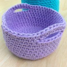 Simple Crochet Mini Basket - Free Pattern (Crochet For Children)
