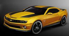 Chevy Camaro 2013-- my FAV! Metallic pearl yellow (BumbleBee) & black.