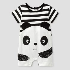He'll be adorable in the Baby Boys' Panda Romper Black - Baby Grand Signature™. This baby boys' romper has short sleeves and crotch snaps for easy changing. Baby Outfits Newborn, Toddler Outfits, Baby Boy Outfits, Kids Outfits, Black Romper, Toddler Fashion, Kids Fashion, Baby Girl Clothes Sale, Short Bebe