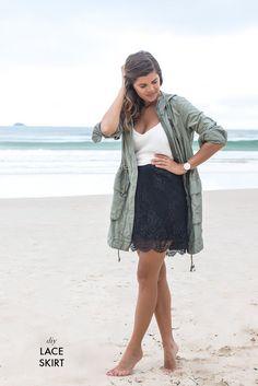 DIY Lace Skirt www.apairandasparediy.com