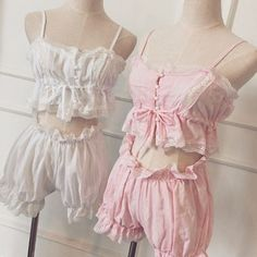 Vintage Inspired Lingerie Ruffle Bloomers & Camisole from Brandedkitty Shop Cute Lingerie, Vintage Lingerie, Beautiful Lingerie, Aubade Lingerie, Dress Vintage, Vintage Style, Kawaii Fashion, Lolita Fashion, Cute Fashion