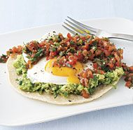Huevos Rancheros - Yes!  Mine have been missing the avocado.  And baked tortillas instead of pan fried.  Must try it this way...