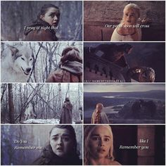 Game of thrones edit. IG//GAMEOFTHRONES_ALL Arya and Nymeria, daenerys and DROGON. Edit. Parallel. Follow GAMEOFTHRONES_ALL FOR MORE EDITS.  Stark, targaryen. The north remembers. Wolf. Dragon. Blood of Dragon. Woolf blood. Lyanna stark. Rhaegar targaryen. A song of ice and fire. George RR Martin.