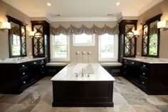 Thinking of having this setup for a kitchen instead of a bathroom. Putting slideglassdoors between the two counter areas and working in the utilities. Maybe make the tub a island? Possibilities.  ---------------------------------- bathroom