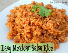 easy Mexican salsa rice from six sisters stuff