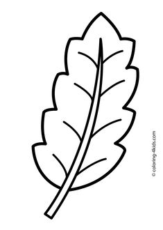 some leaf nature coloring page for kids printable free