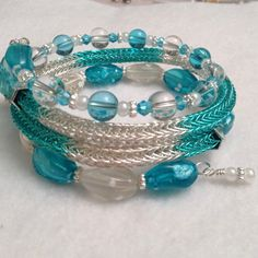 Ladies Viking Knit bracelet memory wire wrap by DonnaDStore, $55.00