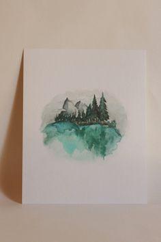 Mountain Love Watercolor Print
