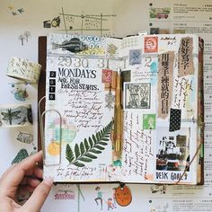 Week 35 。I am so fortunate to be in this community where I get to know new friends who share the same interest. In here I am using some materials that were sent from them by mail from all over the world to decorate the page as they are all unique and makes a special place in my journal ❤️ Thank you so much and I wish you all have a good Monday!! #travelersnotebook #kaweco #midoritravelersnotebook #travelersfactory #instax #chamilgarden #scrapbook #craftlog