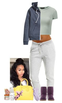 """Just one of those days."" by je-mimi ❤ liked on Polyvore featuring River Island, Givenchy, H&M and UGG Australia"