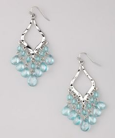 Look what I found on #zulily! Aqua & Silver Lacey Earrings by Uptown Girls #zulilyfinds
