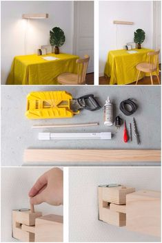 Make a Pretty Articulated Wall Mounted Lamp - Wall Lamps & Sconces - Perfect DIY to make a convenient articulated wooden lamp to work at home in a Scandinavian trend. It's up to you to choose whether it sticks to the wall if it illuminates you above your workspace. Practical for meticulous work. It can also be made with a wooden pallet. Tools and...
