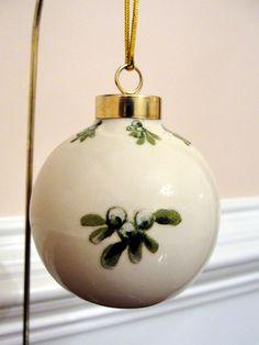 Chickadee Bird Ornament Porcelain Ball by EllensClayCreations