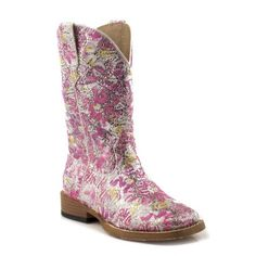 Roper Infant Square Toe Glitter Pink Boots $85.00 With an out there twist on cowgirl boots these Roper's will have your little one standing out from the crowd.
