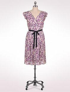 Plus Size Belted Floral Chiffon Dress | Dressbarn