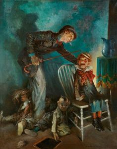 Everett Shinn (1876–1953) The Ventriloquist, 1927