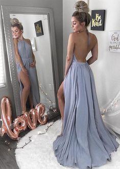 Simple Prom Dress,halter slit chiffon formal dresses A-Line Long Evening Dresses Prom Gowns Tulle Prom Dresses Cheap,Long Party Gowns Moco Dresses Cheap Long Dresses, Open Back Prom Dresses, Simple Prom Dress, Prom Dresses For Teens, Backless Prom Dresses, A Line Prom Dresses, Tulle Prom Dress, Beautiful Prom Dresses, Tight Dresses