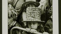 Two girls wear Union Jack hats in 1977