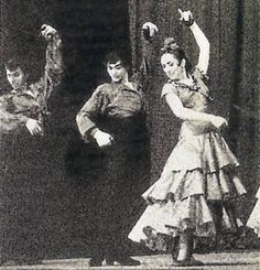 Pilar López, Antonio Gades y Curro Vélez