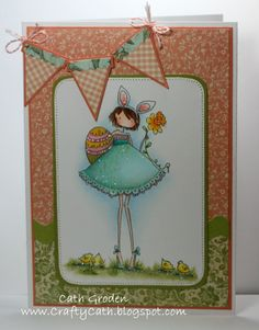Spotlight On: Uptown Girl Bunny has a Daffodil | stamping bella